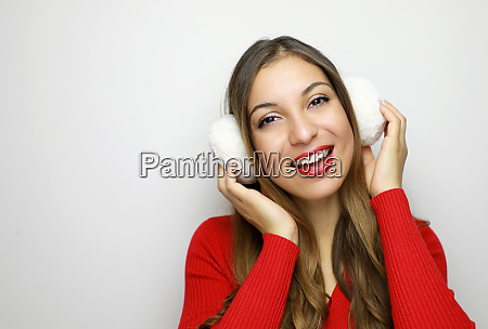 winter beauty woman fashion girl concept