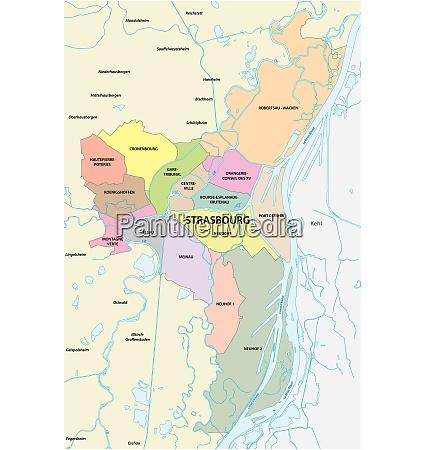 administrative und politische landkarte der elsaessischen