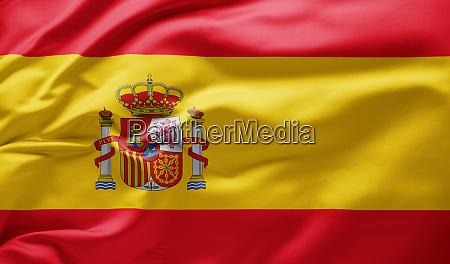 schwenkende nationalflagge von spanien