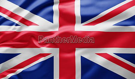 schwenken dein nationalflagge von grossbritannien