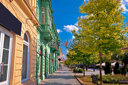 town of sombor street and architecture