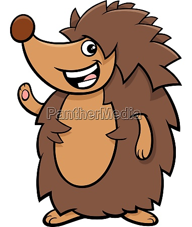 funny hedgehog cartoon animal character
