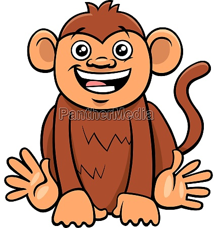 cute monkey animal character cartoon illustration
