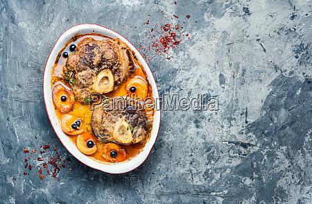 italienisches fleischsteak ossobuco