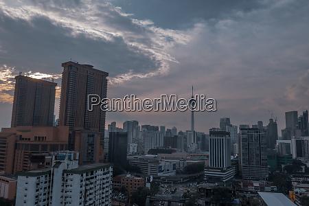 luftaufnahme der skyline von kuala lumpur