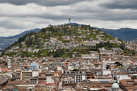 quito ecudador city panorama
