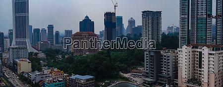 luftbild der skyline von kuala lumpur