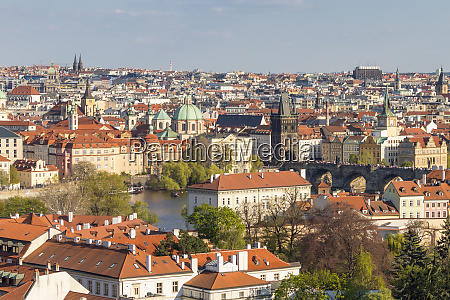 elevated view from prague castle over