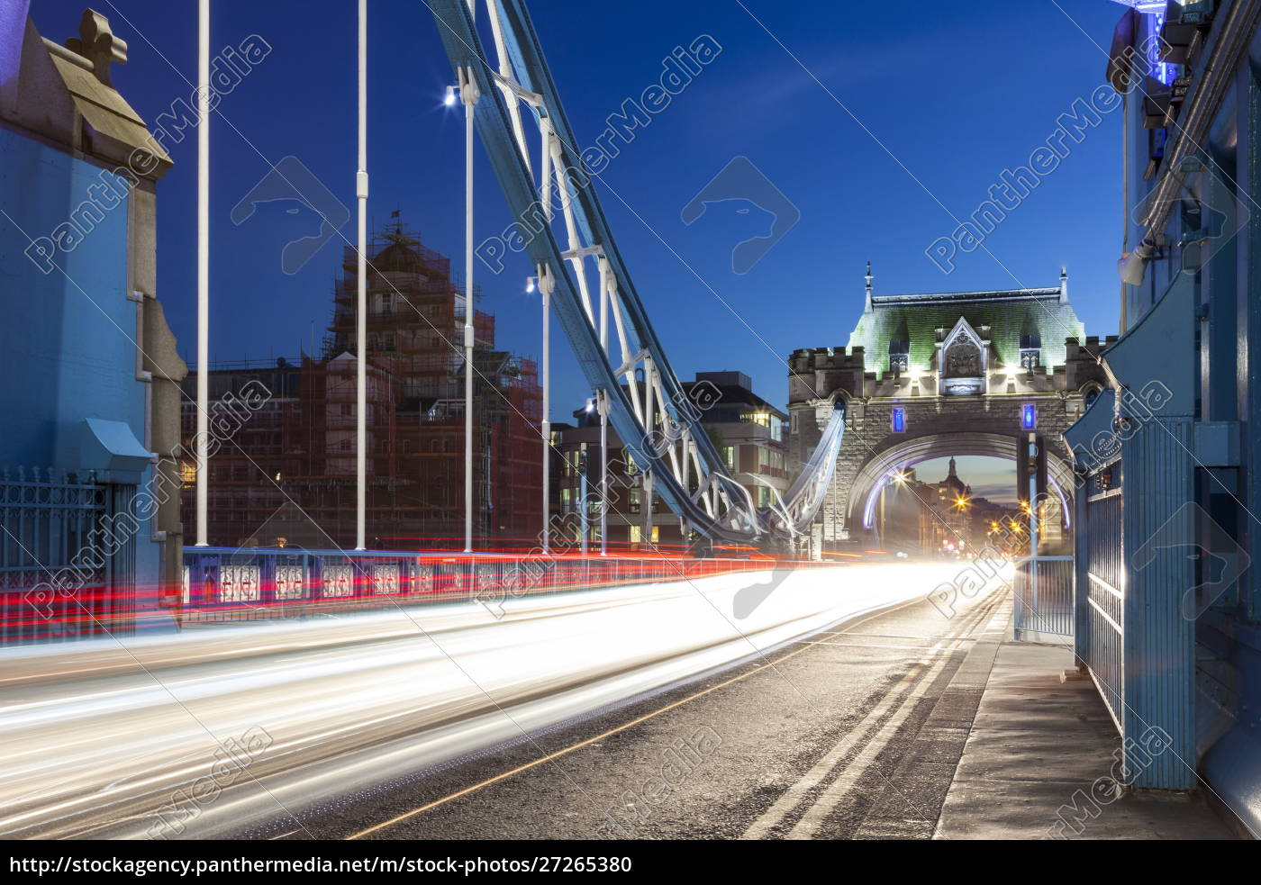 lange, verkehrsbelastung, über, tower, bridge, in - 27265380