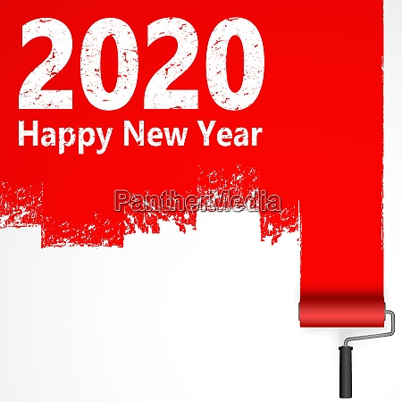 lackierwalzenkonzept neujahr 2020