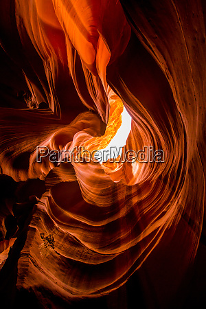 sandstone sculpted walls upper antelope canyon