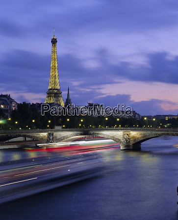 eiffel tower and the seine river