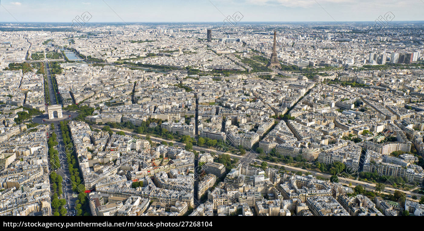 aerial, view, of, paris, with, the - 27268104