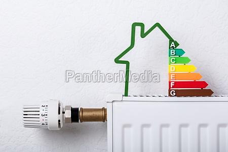 hausmodell zeigt energieeffizienzrate