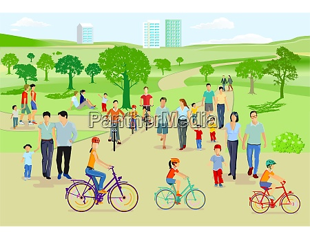 menschen und familien in der freizeit