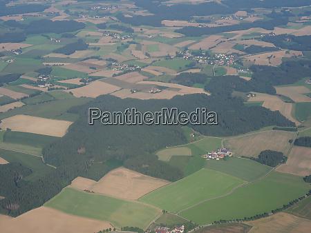 luftaufnahme der deutschen landschaft