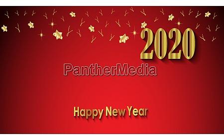 2020 happy new year hintergrund fuer