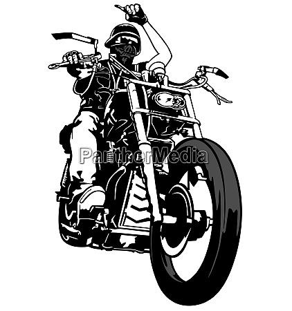 motorradfahrer von gang