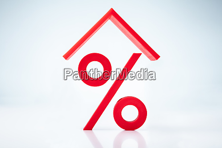 house roof over percentage sign