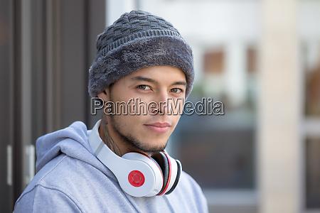 porträt, eines, jungen, lateinischen, mannes, sport - 27289233