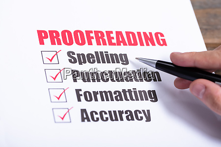 proofreading checkliste