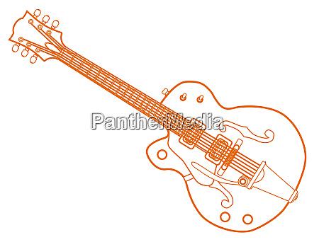 left handed country und western gitarre
