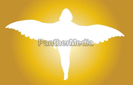 helle weisse femle engel silhouette