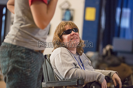 woman with cerebral palsy and visual
