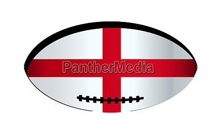 england flagge rugby ball