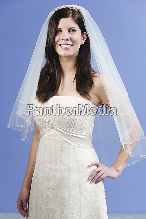 portrait of a bride smiling