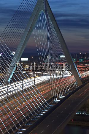 traffic on a suspension bridge leonard