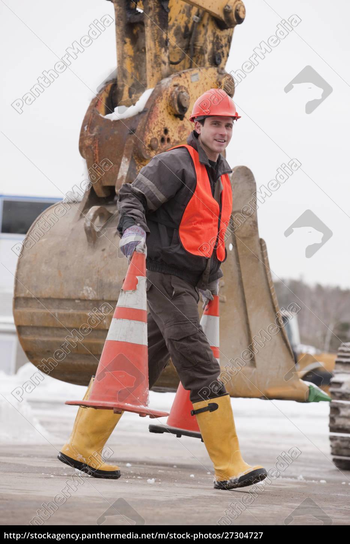 transportation, engineer, moving, traffic, cones, at - 27304727