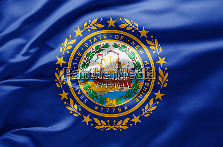 schwenkende staatsflagge von new hampshire