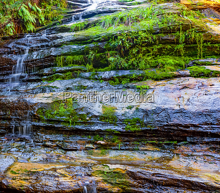 water cascading over a cliff with
