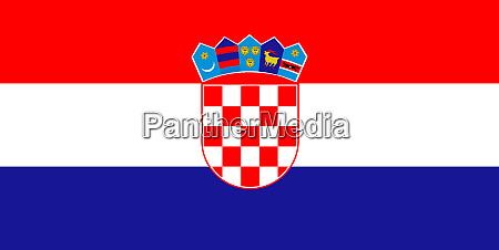 kroatische nationalflagge