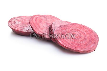 sliced tasty raw beetroot