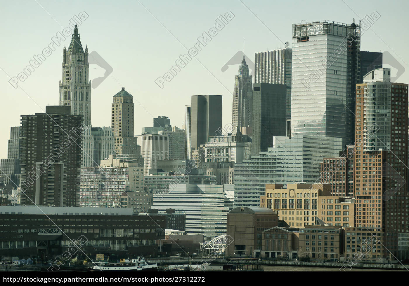new, york, skyline., close, up, of - 27312272