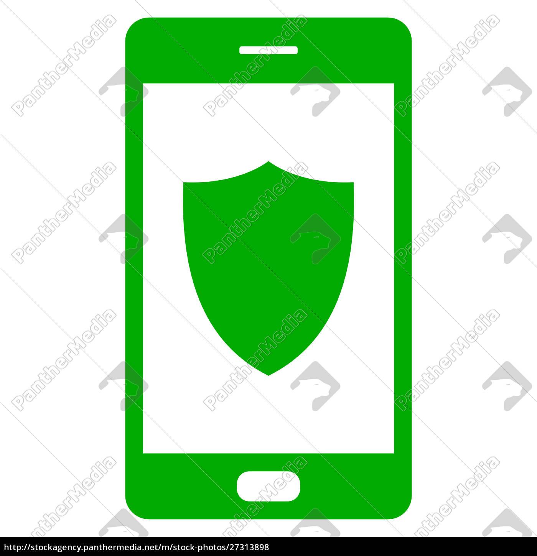schild, und, smartphone - 27313898
