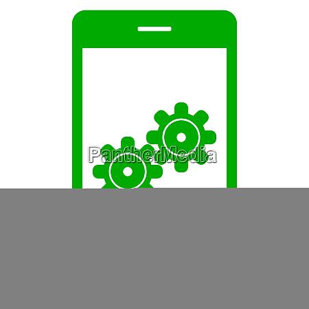 getriebe und smartphone
