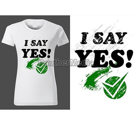 t shirt design with inscription i