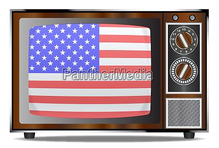 old glory television set