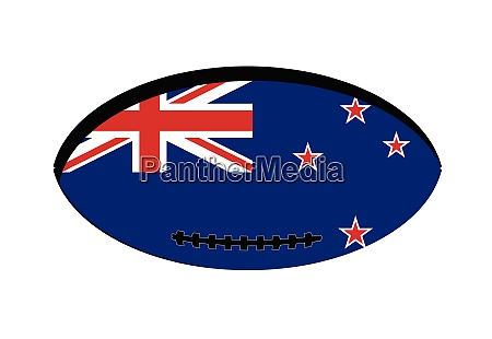 neuseeland flagge rugby ball