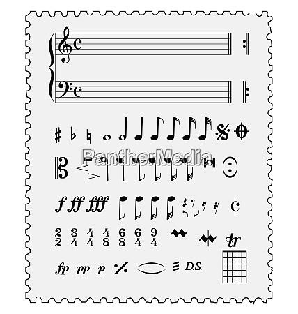 liebe musik briefmarke