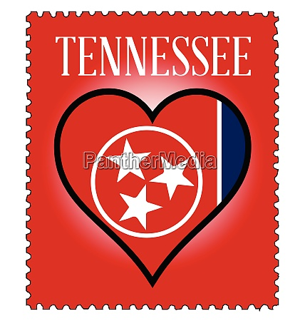 love tennessee flag postage stamp