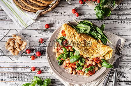 bio gesundes ei omelett