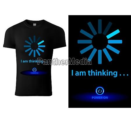 black t shirt design with blue