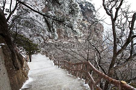 china gelbe berge abendlicht auf den
