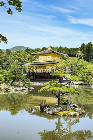 kyoto japan kinkaku ji tempel des