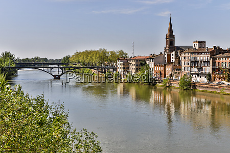 france montauban river view of old