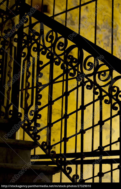 cuba, , havana, , railing, and, ironwork, in - 27329010